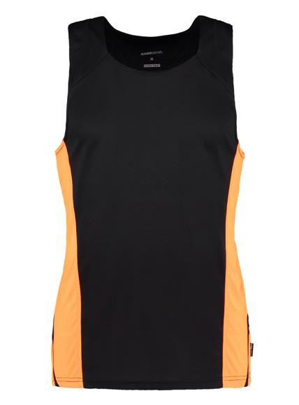 Men's Cooltex Vest Black and Orange