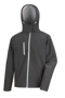 Men's Core Performance Softshell jacket in black with grey details