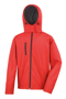Men's Core Performance Softshell jacket in red with black details