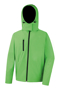 Men's Core Performance Softshell jacket in green with black details