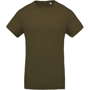 Men's Organic Cotton T-shirt in khaki