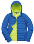 Men's Snow Bird Hooded Jacket in blue with lime green lining