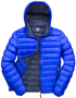 Men's Snow Bird Hooded Jacket in blue with navy lining