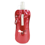 Red foldable bottle with matching red carabiner clip