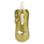 Roll up bottle in gold printed with a company logo