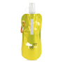 Metallic yellow roll up 400ml drinks pouch with hook