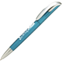 Cyan bodied pen with chrome nose cone and clip