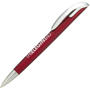 Twist action pen in red and silver
