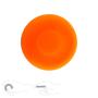 Mini Long Distance Frisbee Silicone in orange