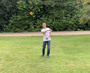 Mini Long Distance Frisbee Silicone in play