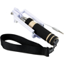 Mini Selfie Stick with black handle and black strap