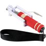 Mini Selfie Stick with red handle and black strap
