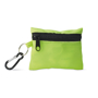 green minidoc first aid kit closed with attached carabiner