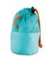 blue mink towel in pouch