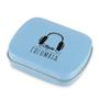 Branded mint tin in light blue