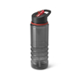 Black Transparent Bottle With Red Trim And Sip