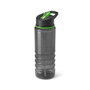Black Transparent Bottle With Green Trim And Sip