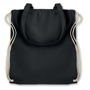 Cotton bag in black with multiple straps