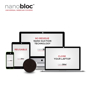 Nanobloc Webcam Cover in black showing what devices it can go on