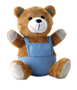 nico bear with blue dungarees
