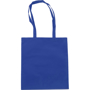 Exhibition tote bag in blue with matching handles
