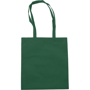 Long handled exhibition brochure carry bag in green