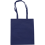 Navy shopper tote bag with colour coordinated handles