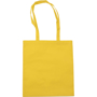 Lightweight tote bag with long straps, made from polypropylene material in yellow
