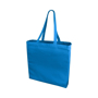 Blue shopper bag for promotional merchandise and company advertising