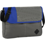 Messenger style business bag in grey and blue