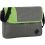 Business shoulder bag in grey and green