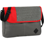 Messenger bag in grey with a red front panel