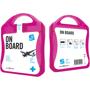 pink on board travel set case