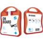 red on board travel set case