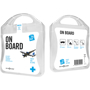 white on board travel set case