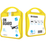 yellow on board travel set case