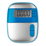 blue on mood pedometer with digital screen