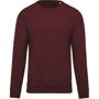 Organic Cotton Sweatshirt in burgundy
