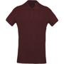 Organic Polo Shirt in burgundy