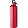 Red metal drinking bottle with straight sides and 770ml capacity
