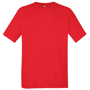 Performance Tee in green with crew neck in red