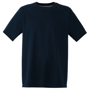 Performance Tee in green with crew neck in navy