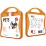 orange pet care kit