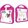 pink pet care kit