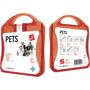 red pet care kit