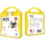 yellow pet care kit