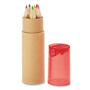 petit lambut coloured pencil tube with red lid removed