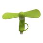 Phone fan in green