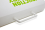 white handle on polypropylene folder carry case with 1 colour branding