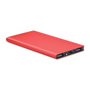 metallic red portable charging device